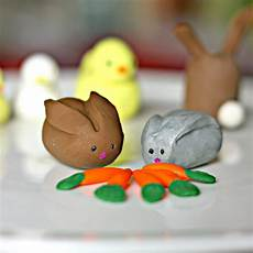 polymer clay easter animals family crafts