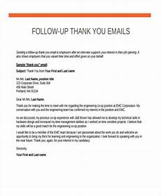 Thank You Letter After Sending Resume Follow Up Emails After Interview Thank You Email Email