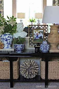 Sofa Table Decor 3d Image by My New Sofa Table Styled 3 Ways Dimples And Tangles
