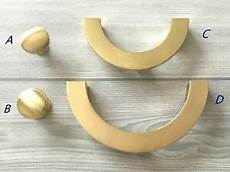 3 75 quot 5 quot half circle brushed gold cabinet pull drawer knob