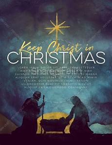 Christian Flyer Templates Free Keep Christ In Christmas Flyer Template