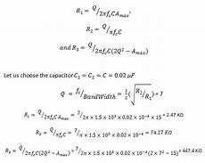 Band Pass Filter Equation Active Band Pass Filter Circuit Design And Applications