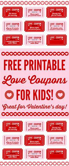 Coupons For Free Printable Love Coupons For Kids On S Day