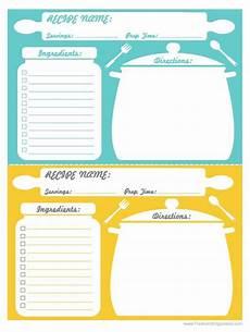 Homemade Recipe Cards Recipe Cards Print Using 5x7 Printable Recipe Cards