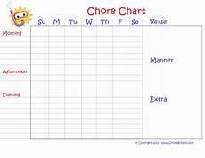 Chore Reward Chart Template Printable Monthly Chore Chart For Kids Chore Chart Kids