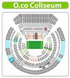 Raiders Tickets Seating Chart Oakland Raiders Seating Chart 3d Seating Chart