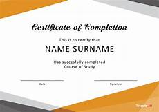 Blank Certificate Of Completion Template 40 Fantastic Certificate Of Completion Templates Word