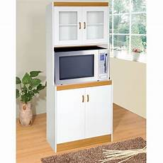 kitchen storage cabinet cupboard with microwave space