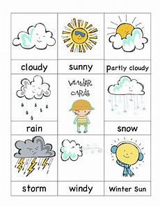 Weather Chart For Preschool Classroom Printable Weather Cards Preschool Weather Preschool Weather Chart