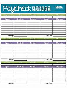 Budget Plan Worksheet Easy Printable Budget Worksheet Get Paid Weekly And