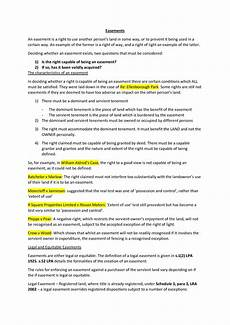 Easement Of Light And View Easements Revision Notes Land Law Ft Law Plus La0638