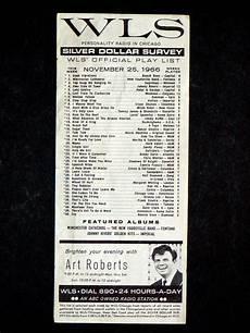 Tide Chart Old Silver Beach 1966 Wls Silver Dollar Survey Pop Music Dc5 Beach Boys