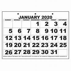 Large 2020 Calendars Maxiaids Low Vision Print Calendar 2020