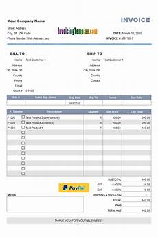 Sample Of Invoices Template Excel Invoice Template With Product List