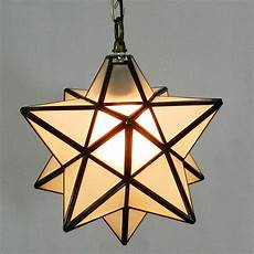 Star Shaped Lights Novelty Star Shaped Tiffany Glass Pendant Lamp Art Decors
