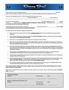 Dj Contracts Free 6 Dj Contract Forms Dj Agreement Equipment Rental
