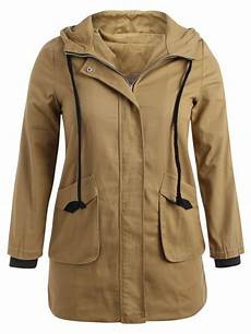 plus size trench coats for 3x 34 2020 hooded plus size twill trench coat in camel