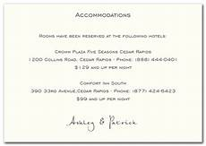 How To Word Hotel Accommodations For Wedding Invitations Accommodation Cards With Images Accommodations Card