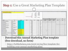 Annual Marketing Plan Template 7 Steps To Building Your Annual Marketing Plan