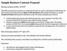 Proposal Agreement Sample Contract Template Business Proposal Sample Business