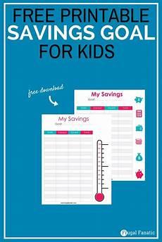Savings Goal Chart How To Create Savings Goals For Kids Free Savings