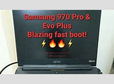 Windows 10 fast boot time with Samsung 970 Pro & 970 EVO