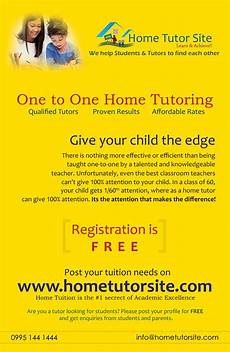 Tutoring Advertisement First Pamphlet For Www Hometutorsite Com Advertising