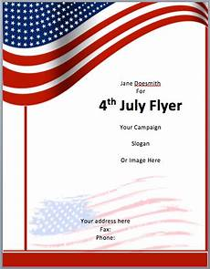 Microsoft Templates Flyer American Flyer Template 4th July Free Flyer Templates