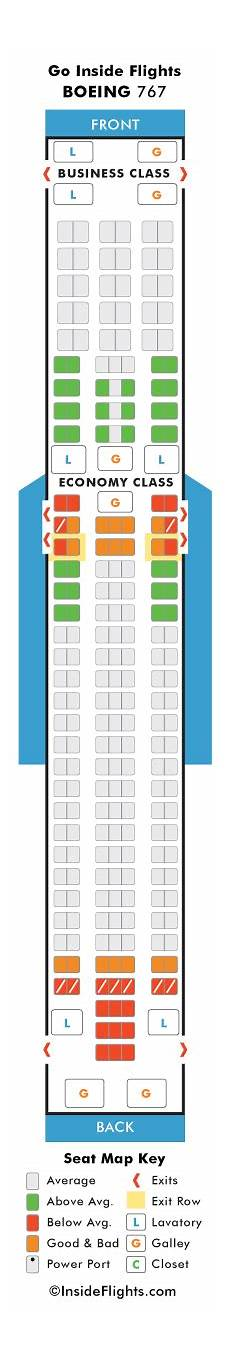 Boeing 767 400 Seating Chart 767 400 Seating Chart
