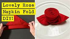 Rose Folding Simple Lovely Rose Napkin Fold Youtube