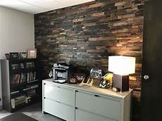Dark Office Reclaimed Wood Wall Panels Considerations Amp Design Ideas