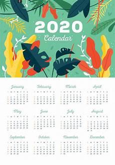 2020 Calendar With 2020 Yearly Calendar Printable Calendar 2020