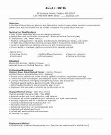 Career Objective Examples For Medical Assistant Free 10 Sample Objective For Resume Templates In Ms Word