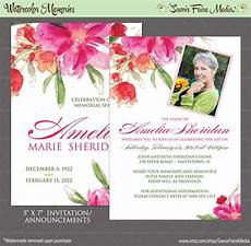 Memorial Announcement Funeral Memorial Announcement Or Invitation And Free Thank You