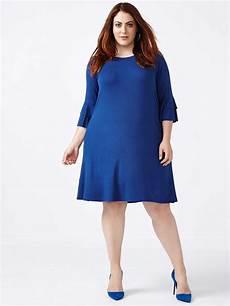 sleeve swing dress month ruffled sleeve knit swing dress penningtons