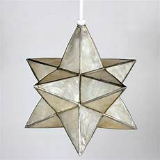 Star Shaped Lights Capiz Star Shaped Pendant Lights Priced Individually 3