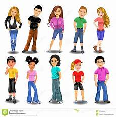 Download Teenagers Teenagers Collection Stock Illustration Illustration Of
