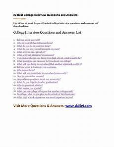 Frequently Asked Interview Questions And Answers 20 Best College Interview Questions And Answers