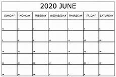 June 2020 Blank Printable Calendar 35 Best Printable June 2020 Calendars With Holidays