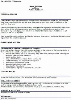 Care Worker Personal Statement Care Worker Cv Example Icover Org Uk