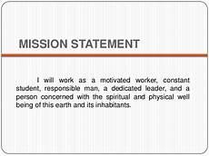 Career Portfolio Mission Statement Example Simple Career Portfolio