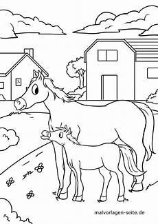 malvorlage pferd auf dem bauernhof kostenlose ausmalbilder