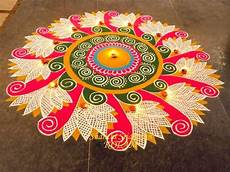 With Designs On Them 20 Amazing Free Hand Rangoli Designs For Competition