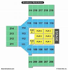World Arena Detailed Seating Chart Broadmoor World Arena Seating Chart Seating Charts Amp Tickets