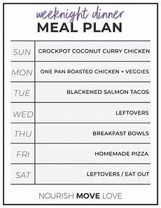 Weekly Dinner Schedule How To Meal Prep 7 Day Meal Plan Grocery List Nourish