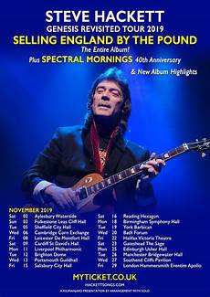 genesis tour 2019 steve hackett 2019 uk tour dates announced