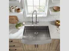 Pekoe 33x22 inch Stainless Steel Farmhouse Sink   American Standard