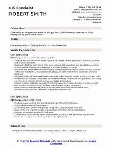 Gis Resume Gis Specialist Resume Samples Qwikresume