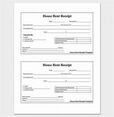 Receipt Template Word Document Rent Receipt Template 9 Forms For Word Doc Pdf Format