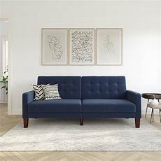 better homes gardens porter fabric tufted sofa bed navy